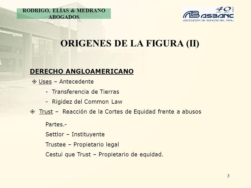 RODRIGO, ELÍAS & MEDRANO ABOGADOS ORIGENES DE LA FIGURA (II)