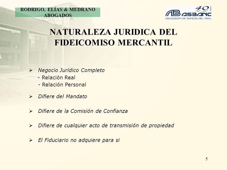 NATURALEZA JURIDICA DEL FIDEICOMISO MERCANTIL