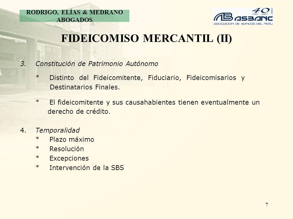 FIDEICOMISO MERCANTIL (II)