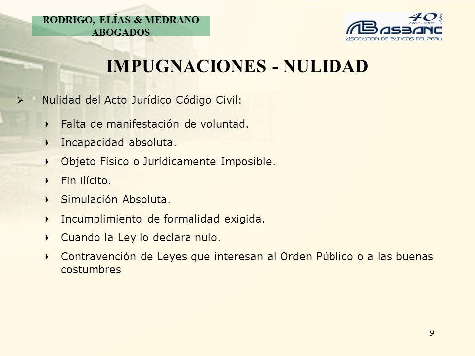 IMPUGNACIONES - NULIDAD