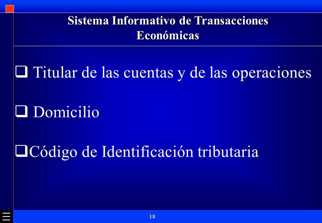 Sistema Informativo de Transacciones Económicas