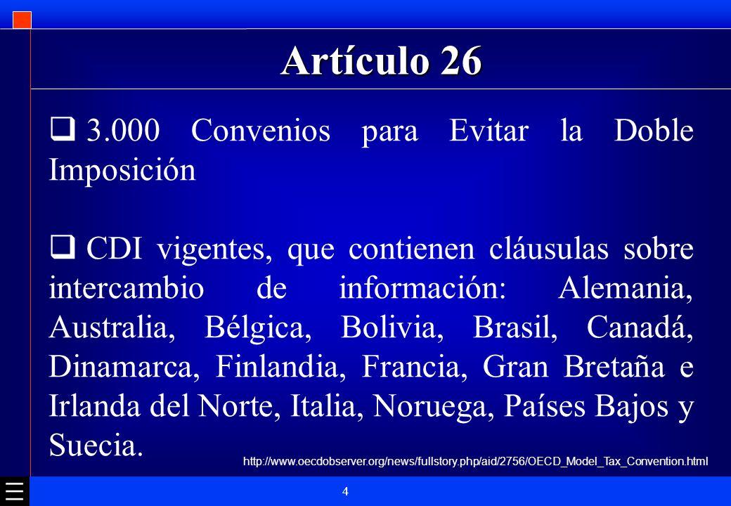 Artículo 26 3.000 Convenios para Evitar la Doble Imposición