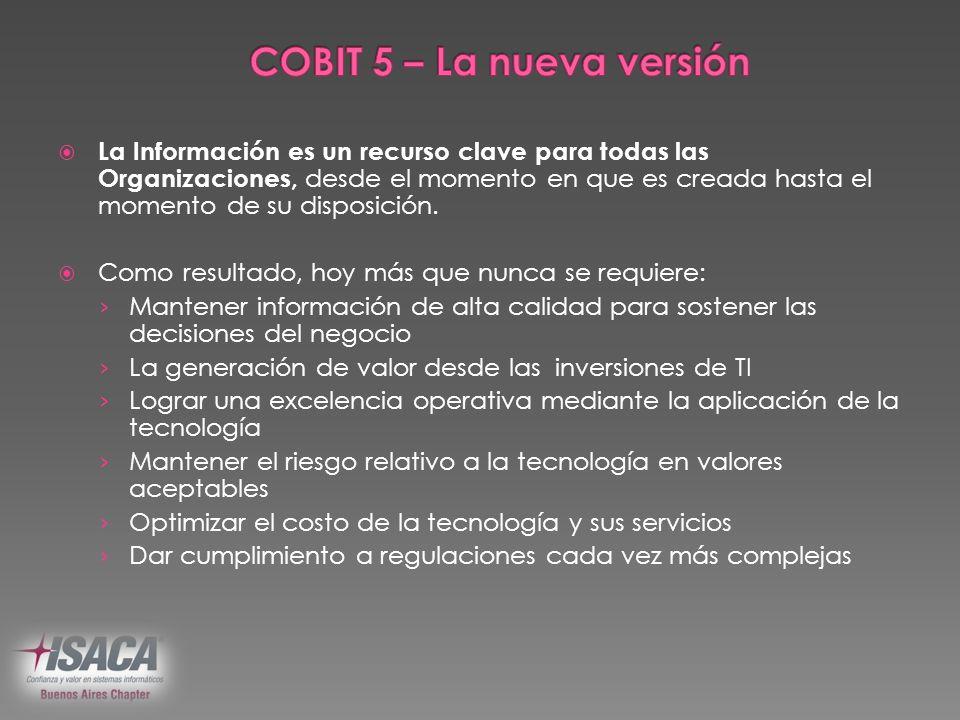 COBIT 5 – La nueva versión