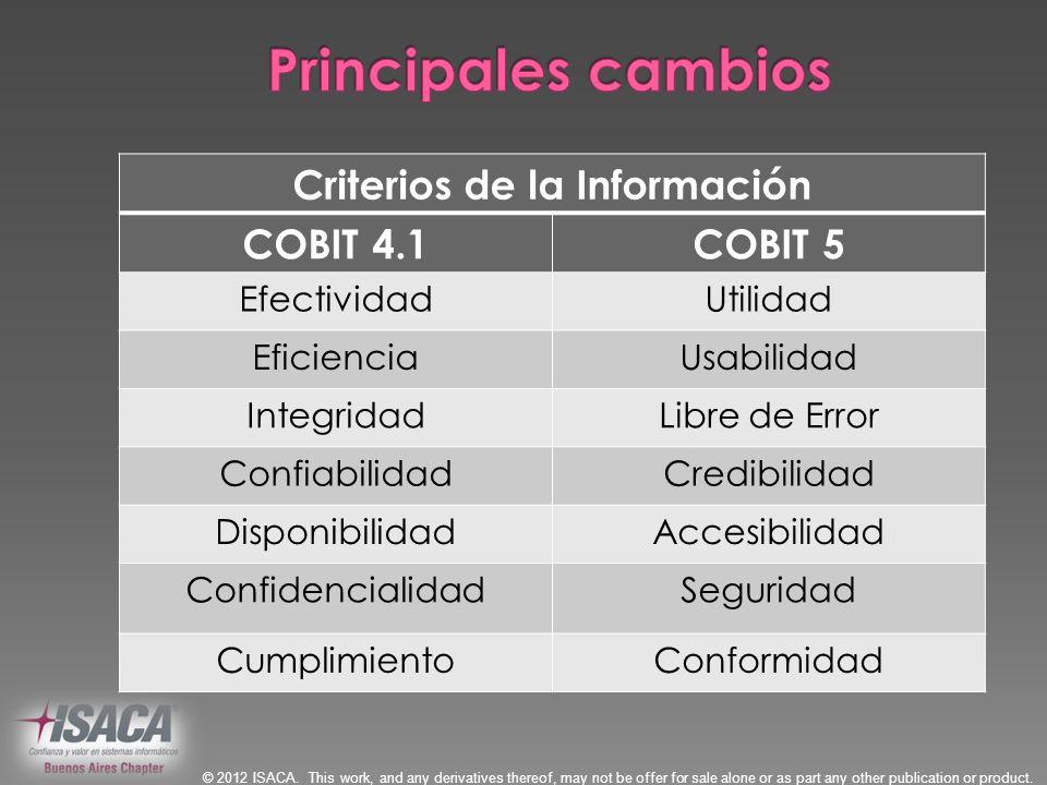 Criterios de la Información