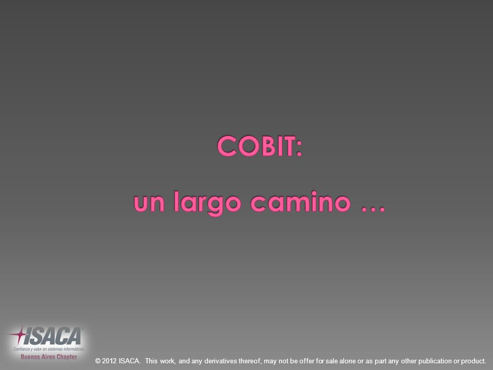 COBIT: un largo camino …