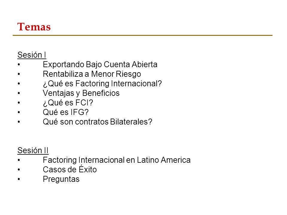 Temas Sesión I Exportando Bajo Cuenta Abierta