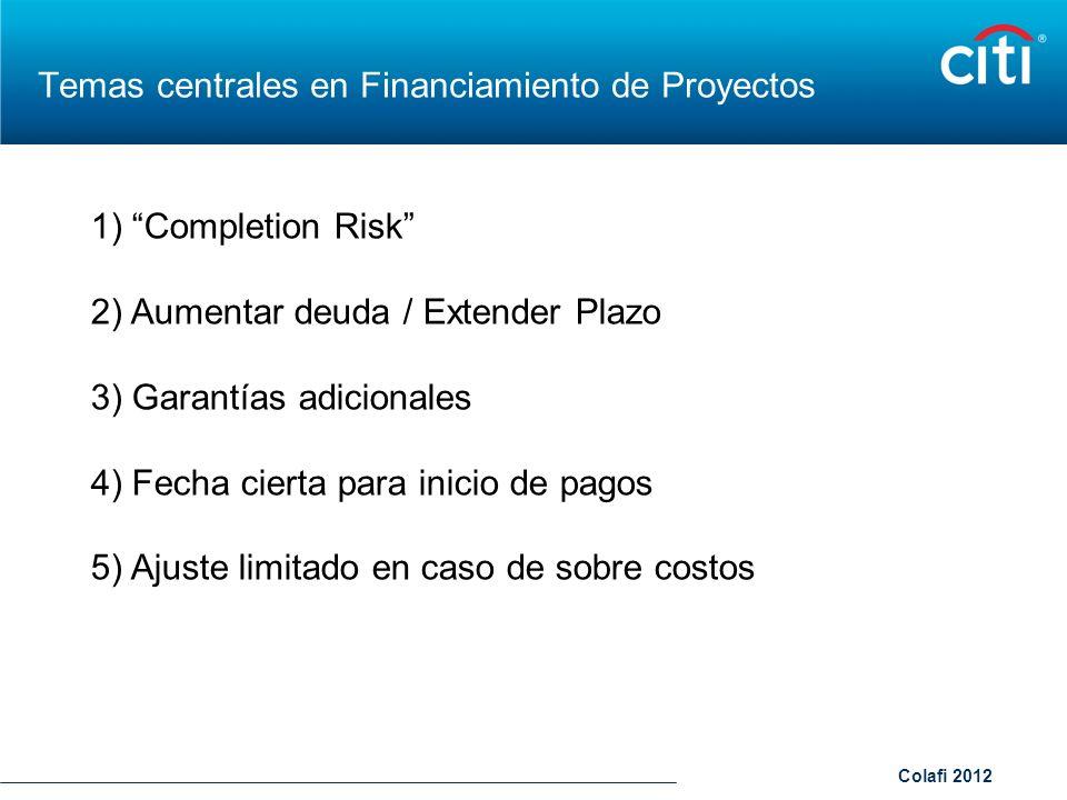 Temas centrales en Financiamiento de Proyectos