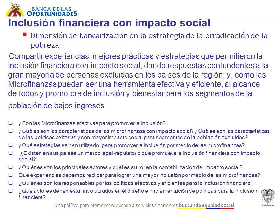Inclusión financiera con impacto social