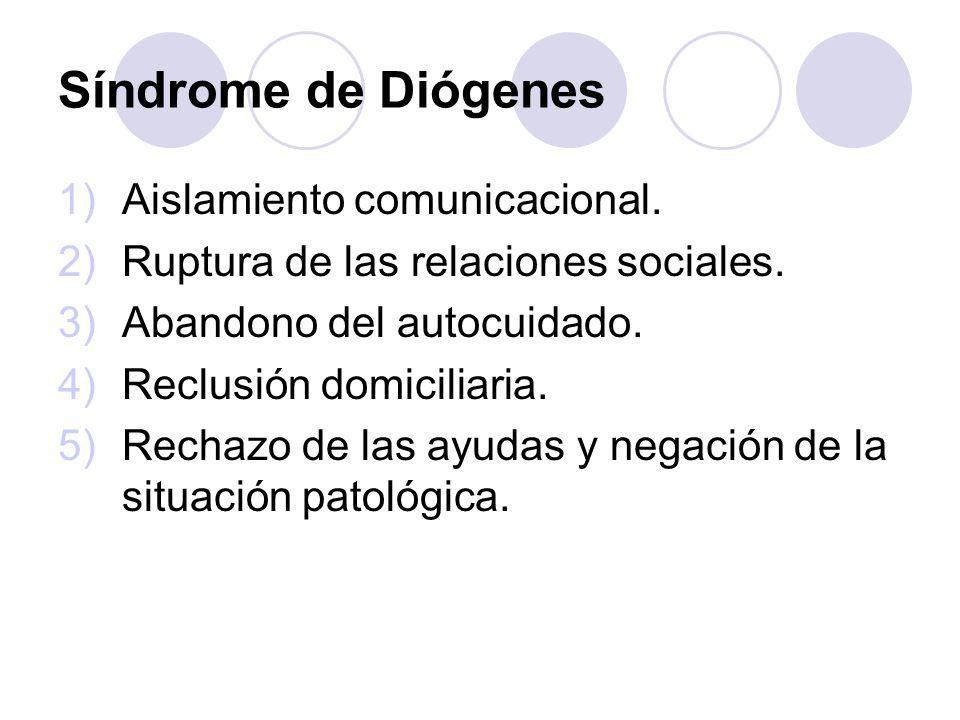 Síndrome de Diógenes Aislamiento comunicacional.