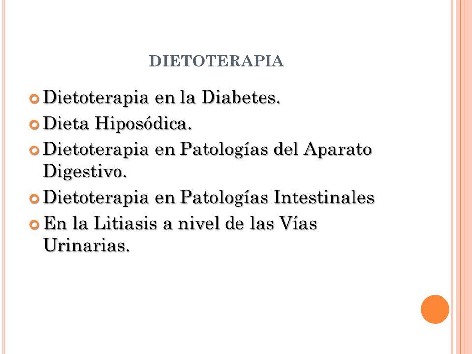 dietoterapia Dietoterapia en la Diabetes. Dieta Hiposódica.