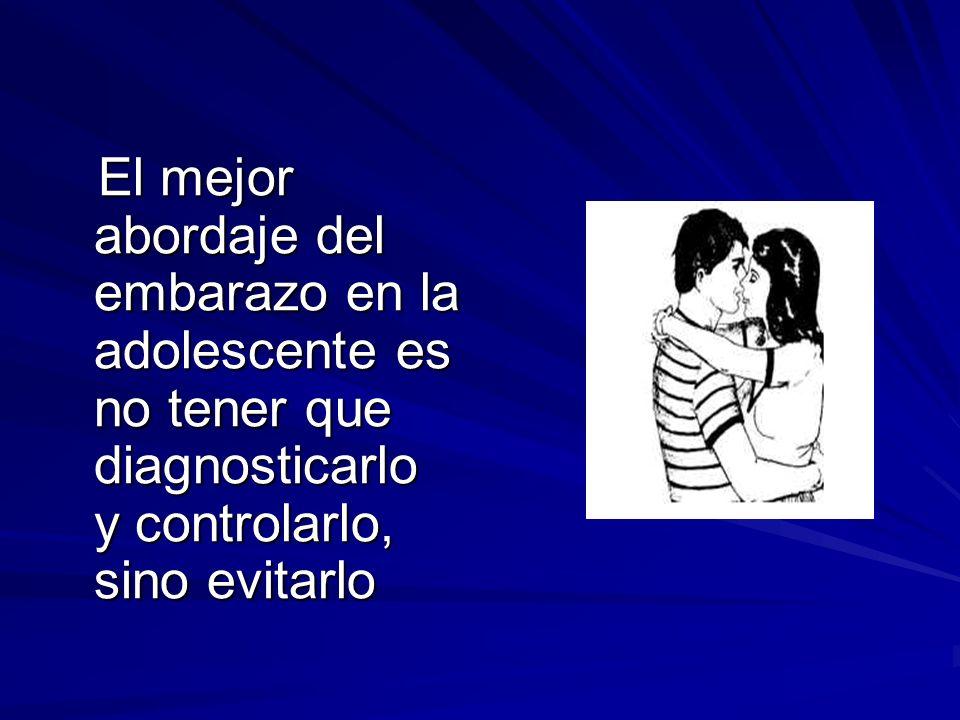 El mejor abordaje del embarazo en la adolescente es no tener que diagnosticarlo y controlarlo, sino evitarlo