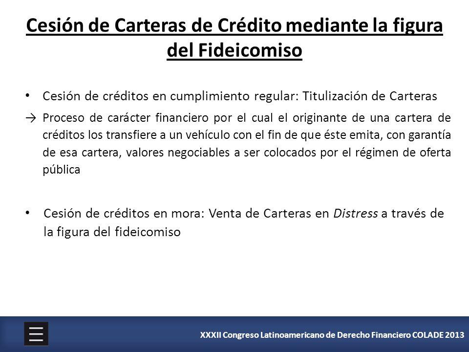 Cesión de Carteras de Crédito mediante la figura del Fideicomiso