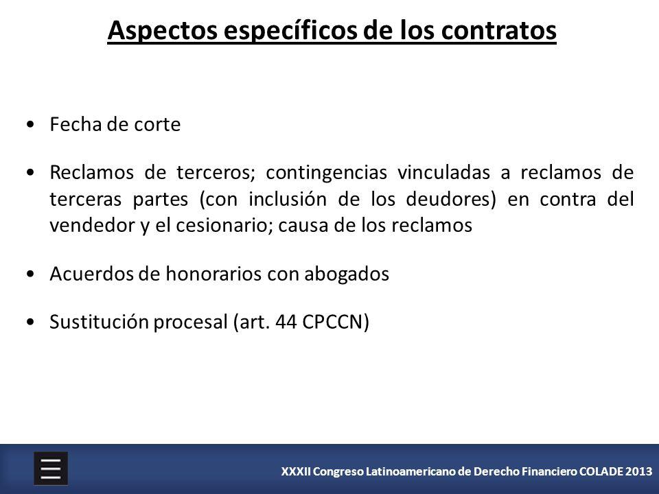 Aspectos específicos de los contratos