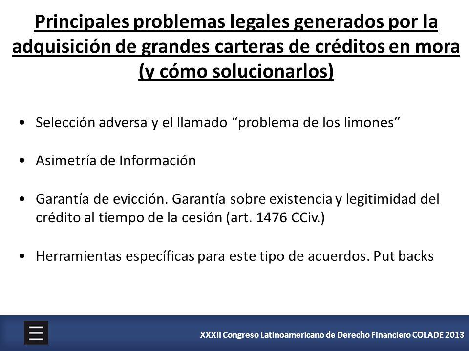 Principales problemas legales generados por la adquisición de grandes carteras de créditos en mora (y cómo solucionarlos)