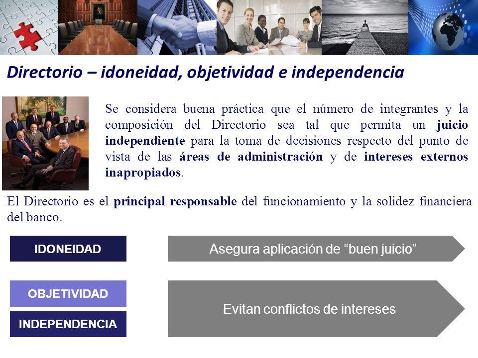 Directorio – idoneidad, objetividad e independencia