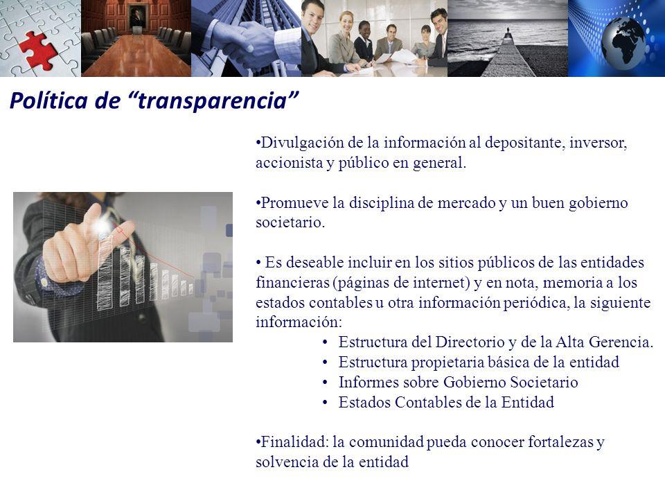 Política de transparencia
