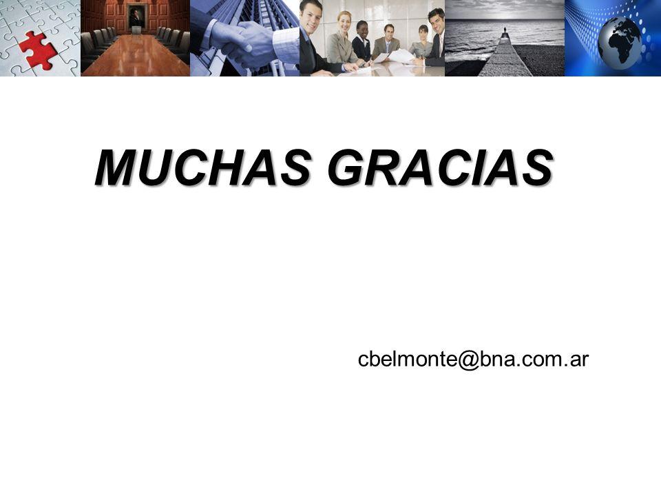 MUCHAS GRACIAS cbelmonte@bna.com.ar