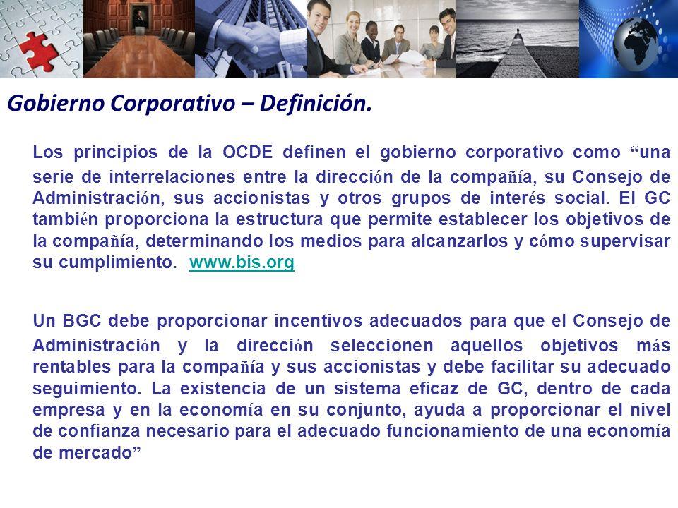 Gobierno Corporativo – Definición.