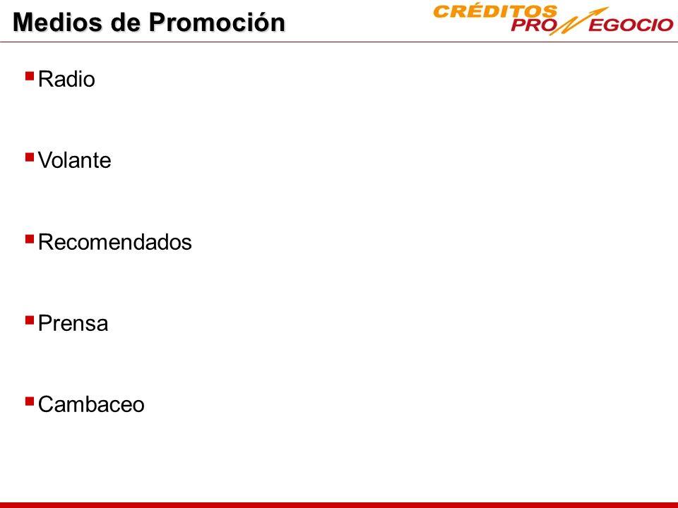 Medios de Promoción Radio Volante Recomendados Prensa Cambaceo