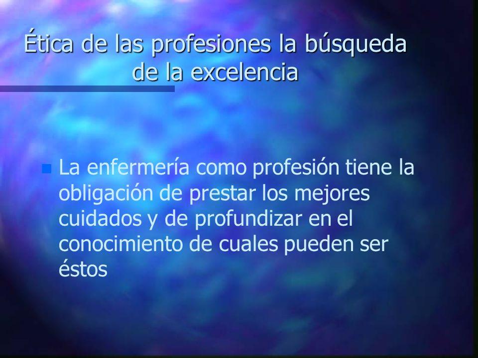 Ética de las profesiones la búsqueda de la excelencia