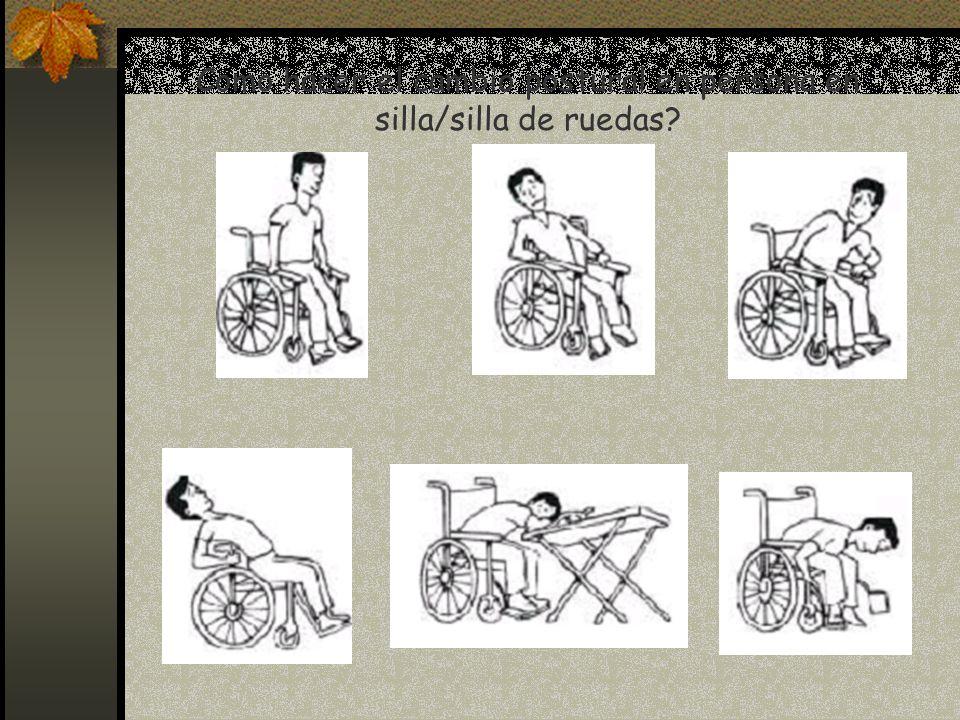 Como hacer el cambio postural en persona en silla/silla de ruedas