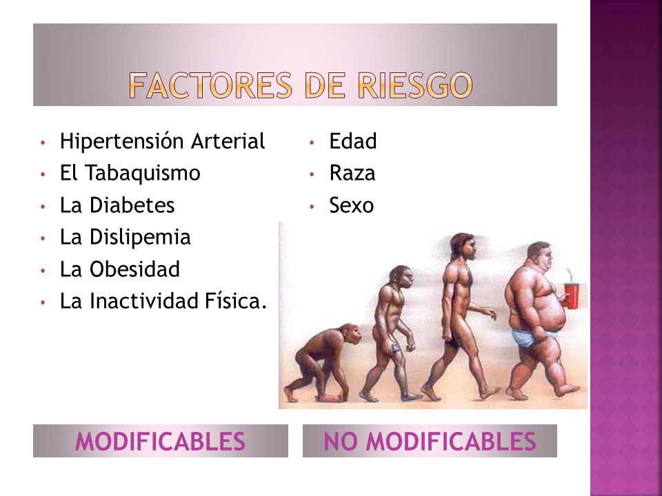 Factores de riesgo MODIFICABLES NO MODIFICABLES Hipertensión Arterial