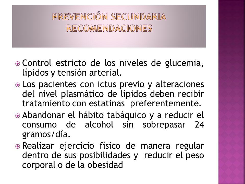 Prevención secundaria RECOMENDACIONES
