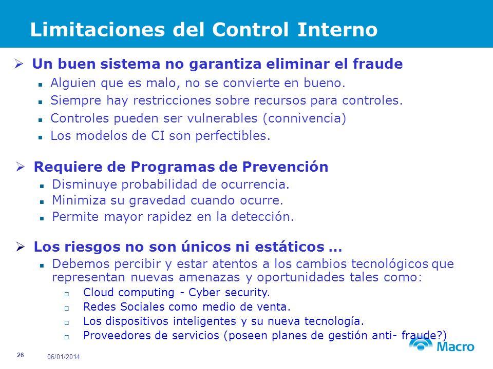 Limitaciones del Control Interno