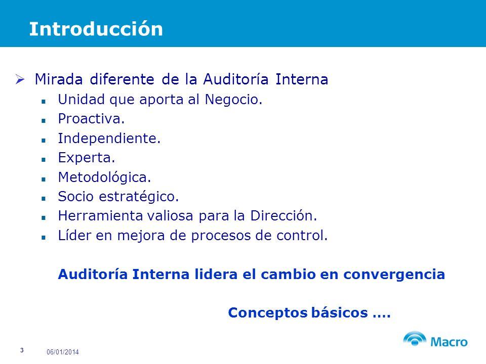Introducción Mirada diferente de la Auditoría Interna