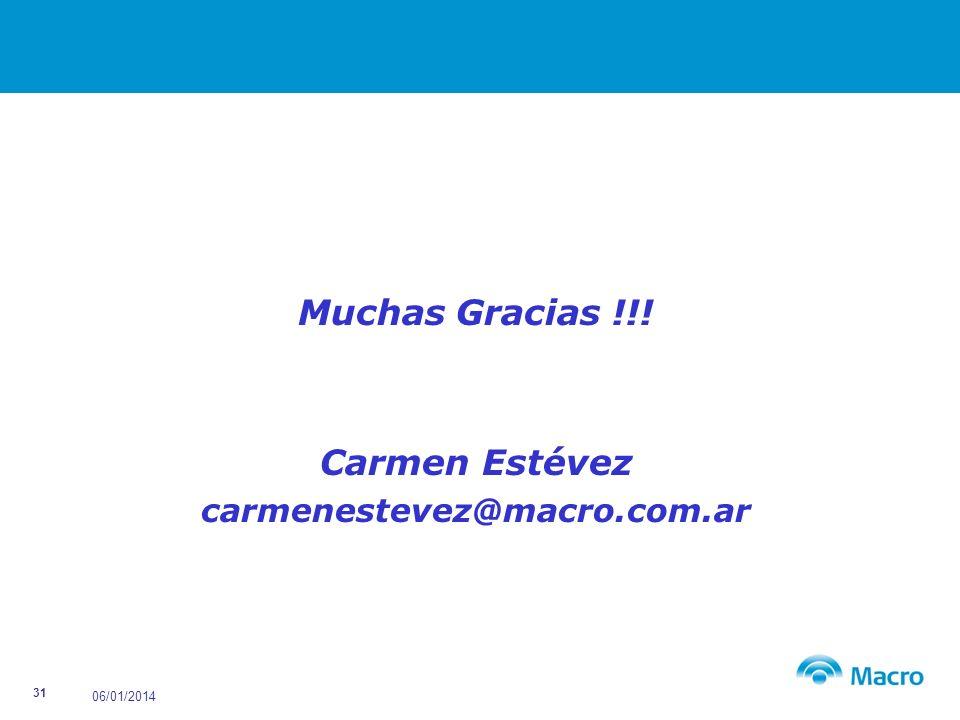 Muchas Gracias !!! Carmen Estévez