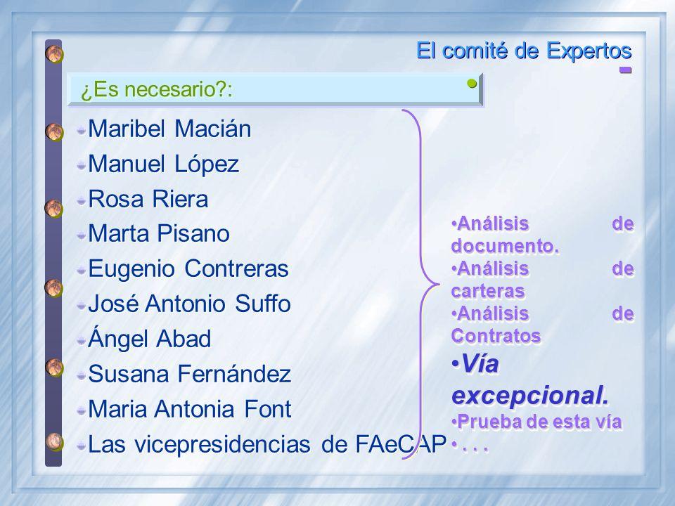 Vía excepcional. Maribel Macián Manuel López Rosa Riera Marta Pisano