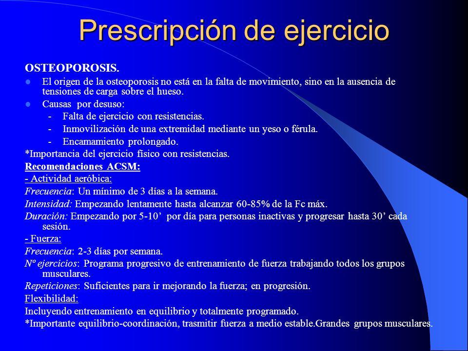 Prescripción de ejercicio