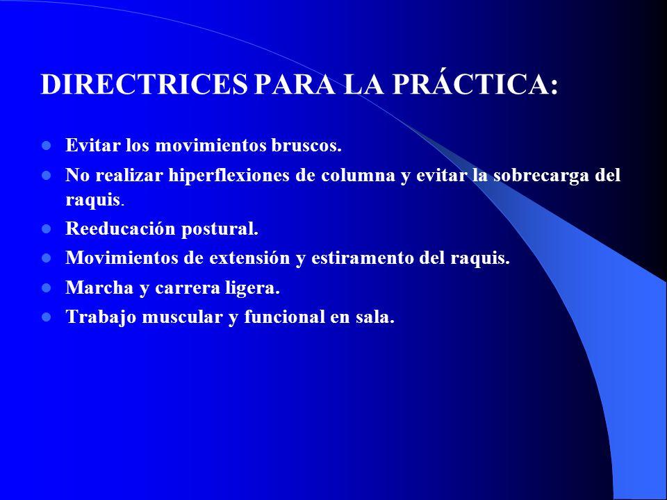 DIRECTRICES PARA LA PRÁCTICA: