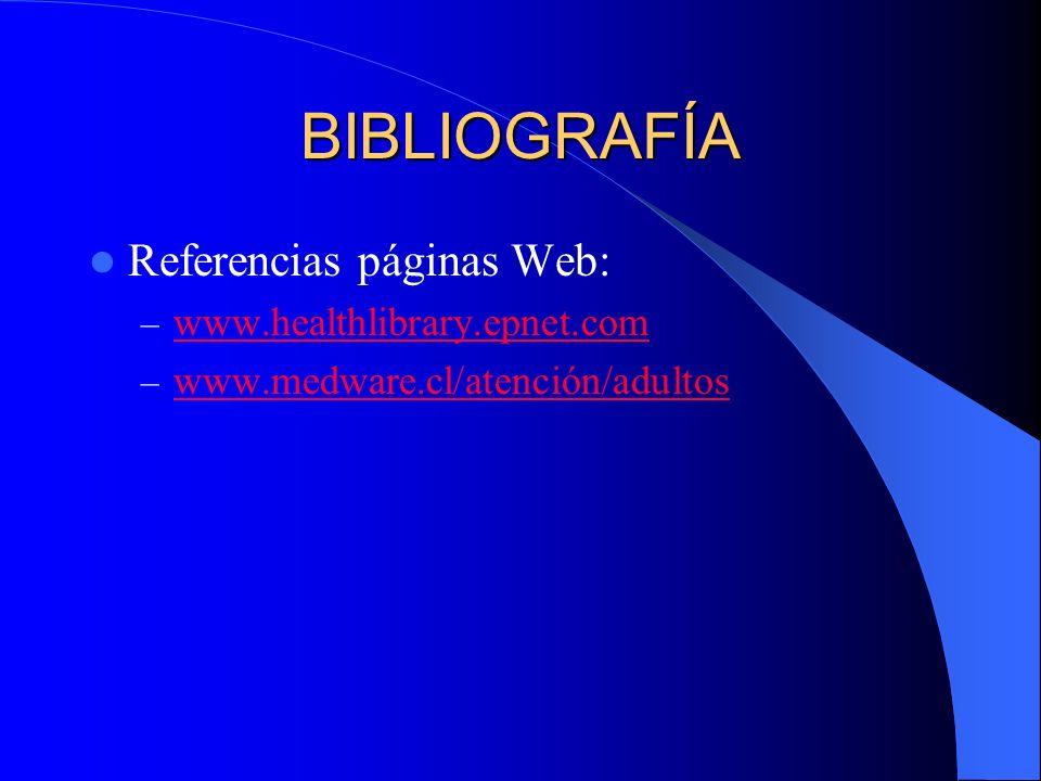 BIBLIOGRAFÍA Referencias páginas Web: