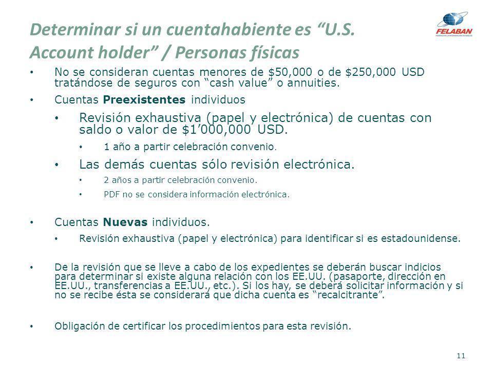 Determinar si un cuentahabiente es U. S