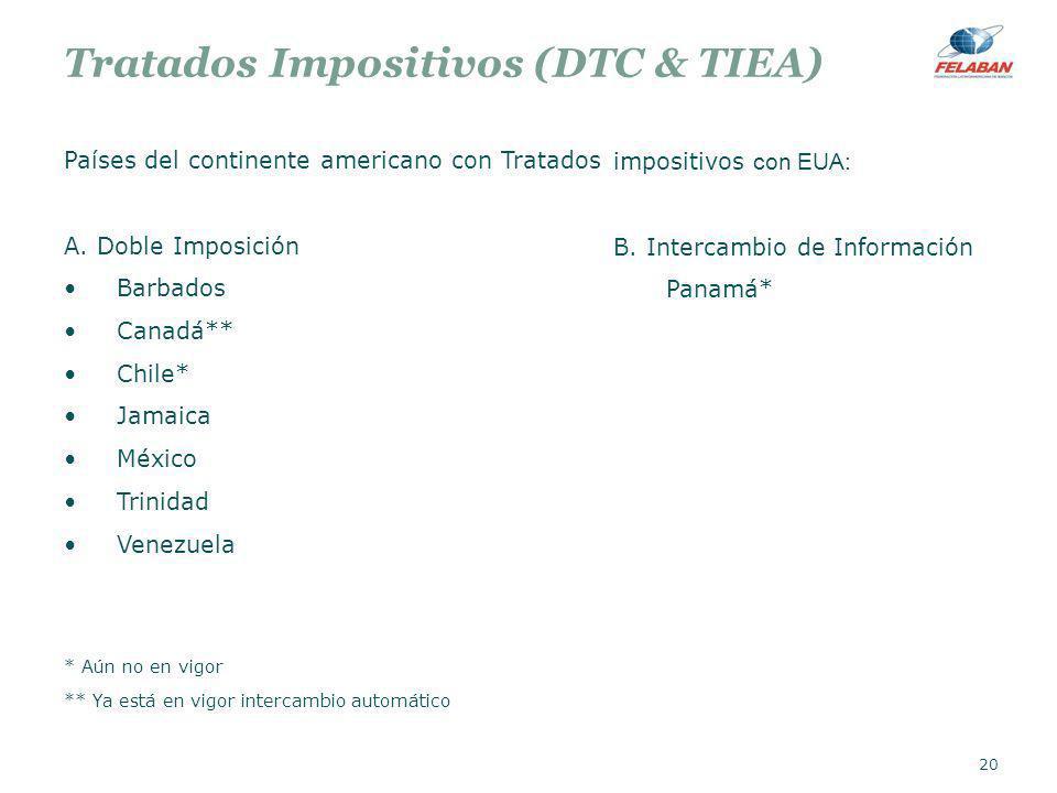 Tratados Impositivos (DTC & TIEA)