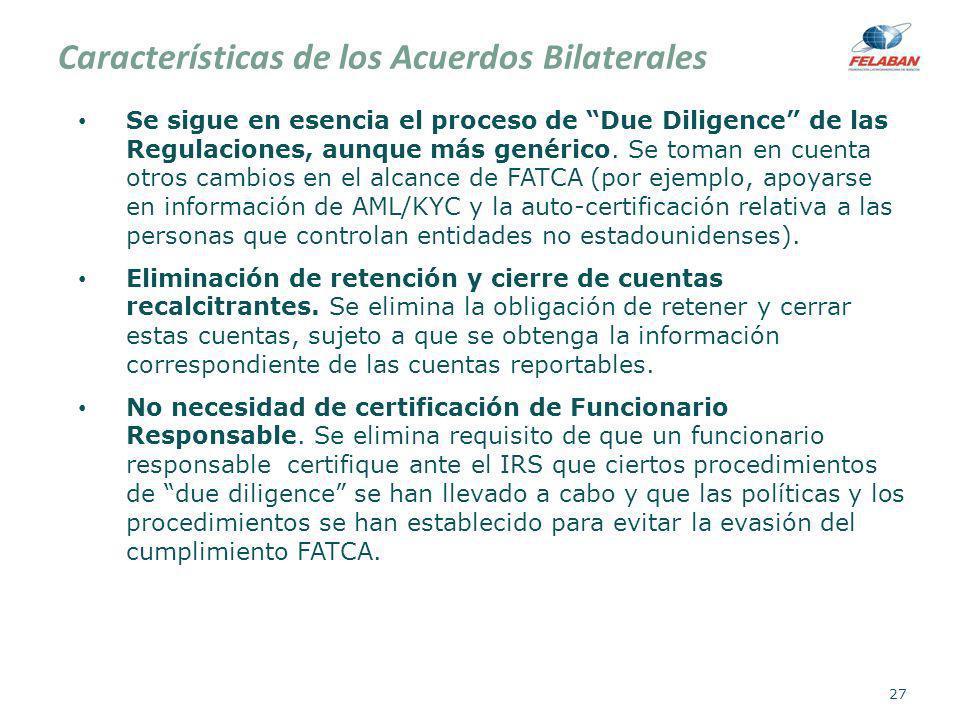 Características de los Acuerdos Bilaterales