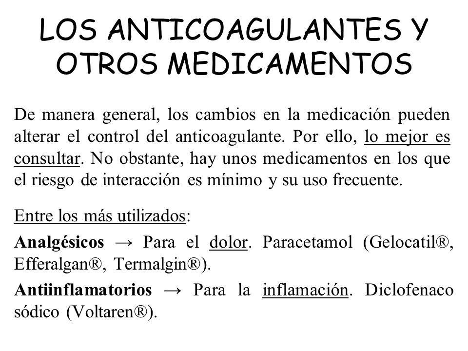 LOS ANTICOAGULANTES Y OTROS MEDICAMENTOS
