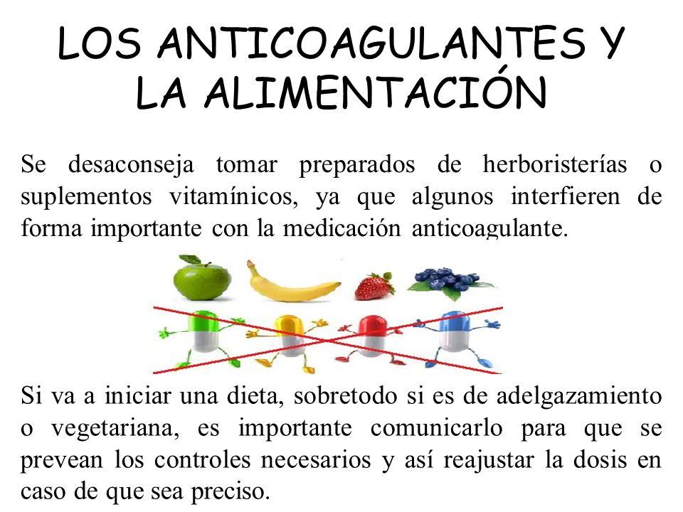 LOS ANTICOAGULANTES Y LA ALIMENTACIÓN
