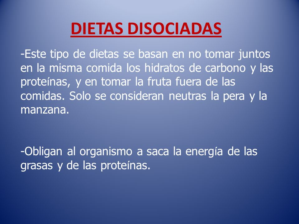 DIETAS DISOCIADAS