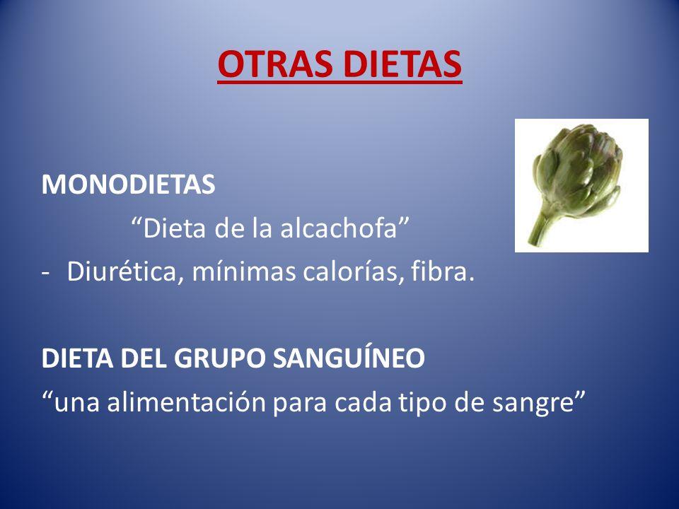 OTRAS DIETAS MONODIETAS Dieta de la alcachofa