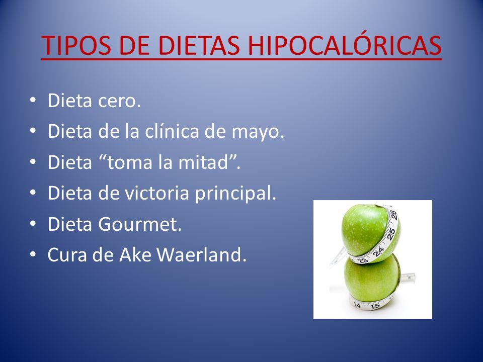 TIPOS DE DIETAS HIPOCALÓRICAS