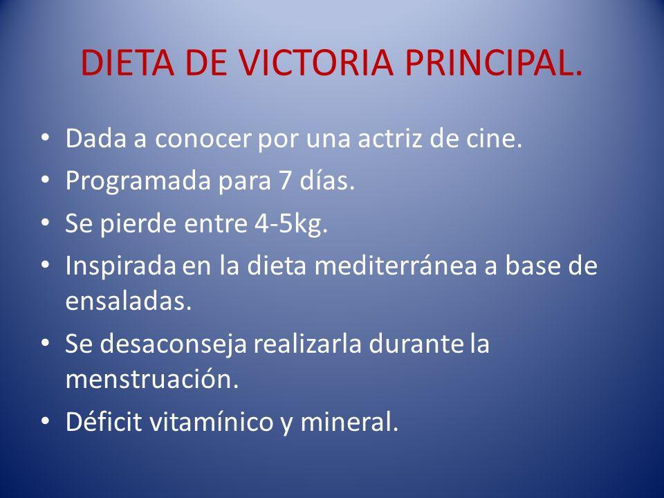 DIETA DE VICTORIA PRINCIPAL.