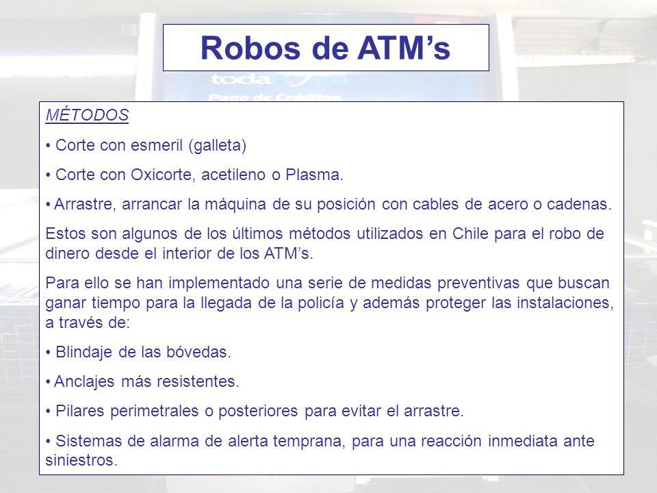 Robos de ATM's MÉTODOS Corte con esmeril (galleta)