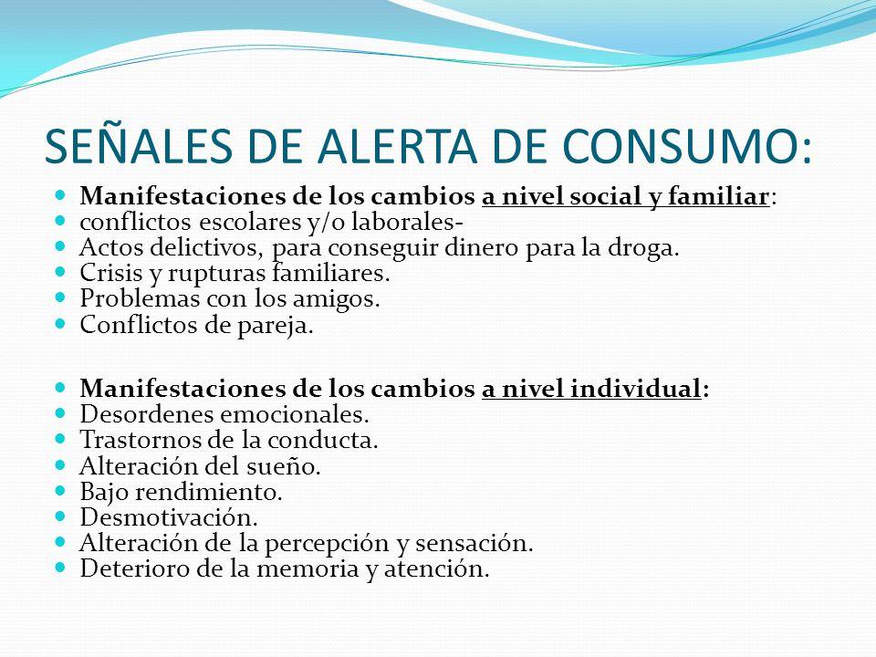 SEÑALES DE ALERTA DE CONSUMO: