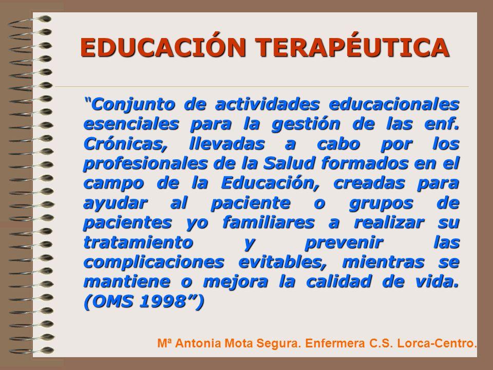 EDUCACIÓN TERAPÉUTICA