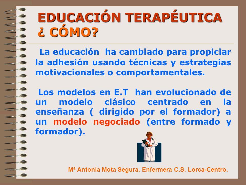 EDUCACIÓN TERAPÉUTICA ¿ CÓMO