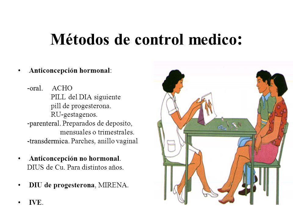 Métodos de control medico: