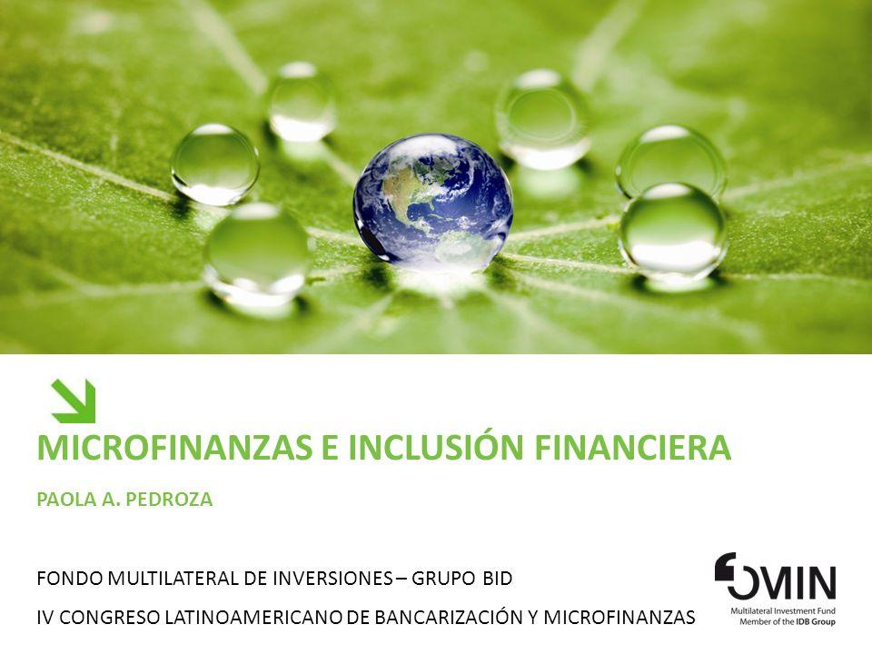 Microfinanzas e Inclusión Financiera Paola a