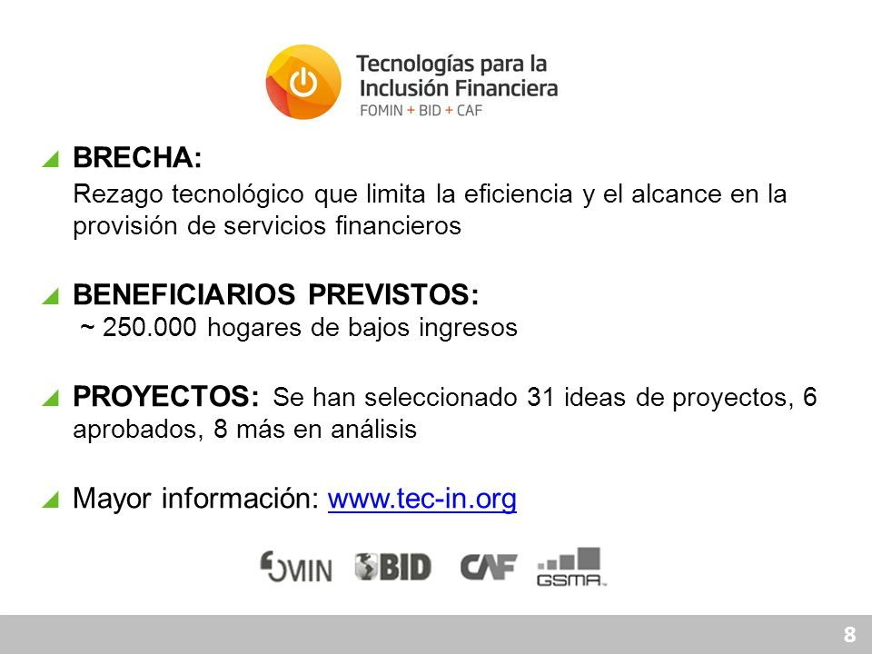 BENEFICIARIOS PREVISTOS: